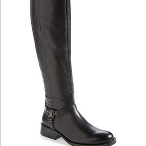 Vince Camuto Farren harness black leather boots